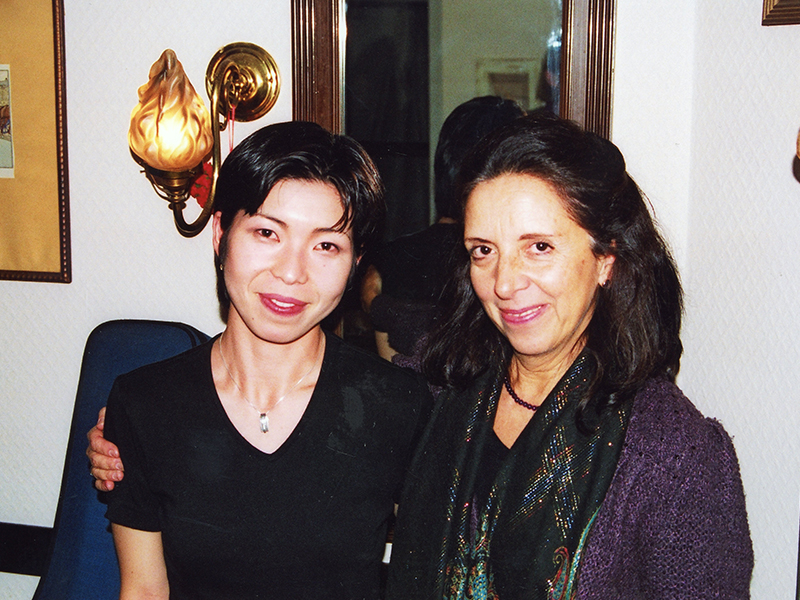 Prof. with a student Michi Komoto